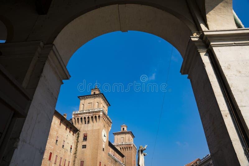 Castello Estense, le château de St Michael, Ferrare, Italie image libre de droits