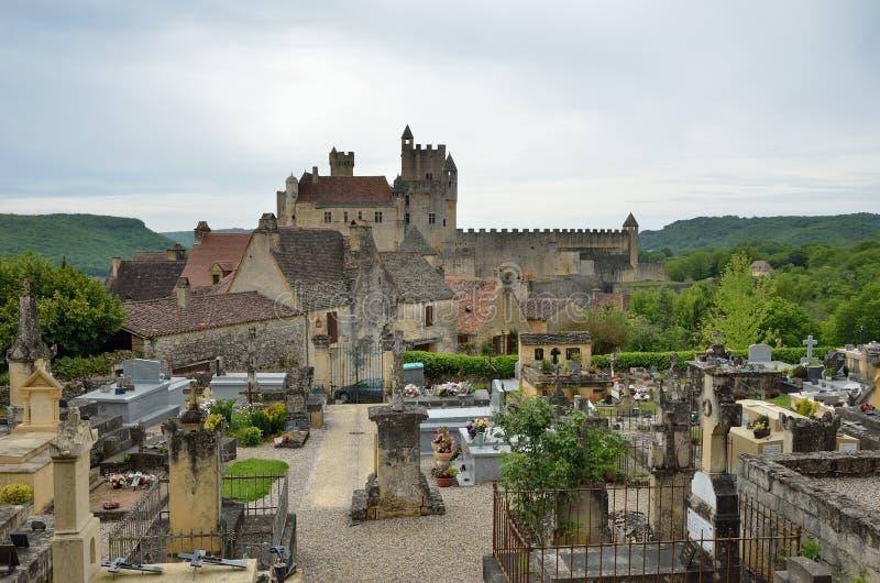Castello famoso del dipartimento francese la Dordogna immagini stock libere da diritti