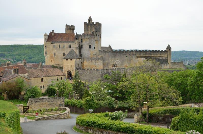 Castello famoso del dipartimento francese la Dordogna fotografia stock libera da diritti