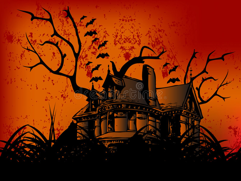 Castello felice di Halloween royalty illustrazione gratis