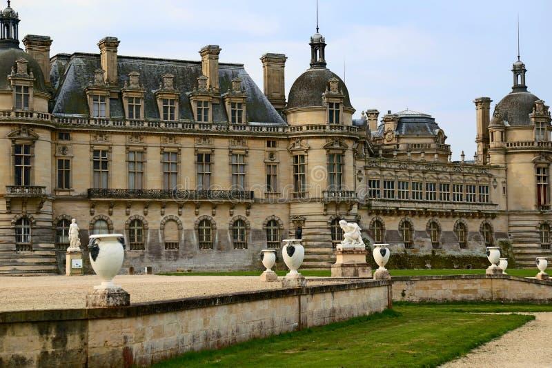 Castello francese nell'inverno immagine stock
