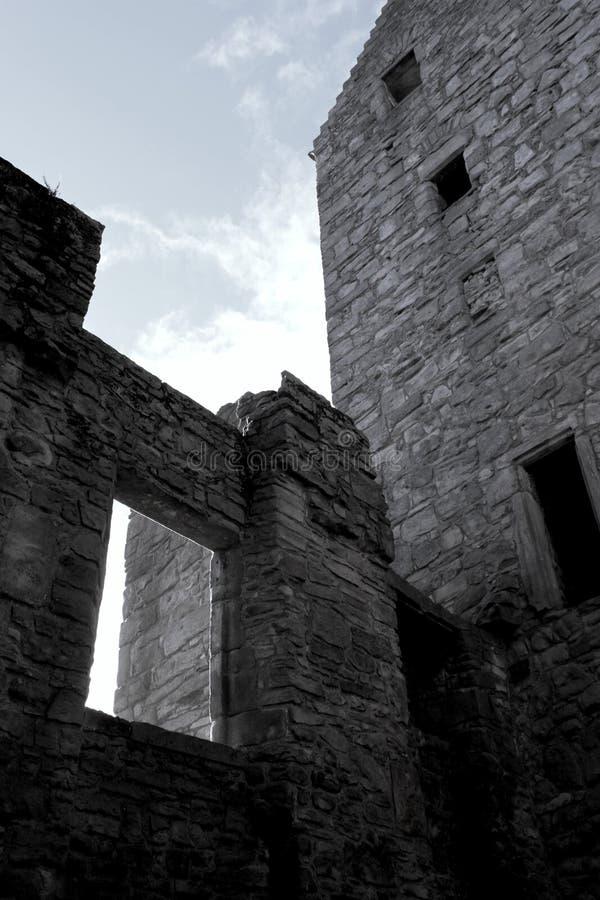 Castello frequentato immagini stock