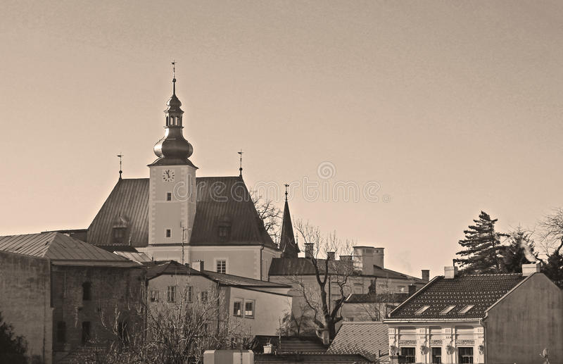 Castello in Frydek-Mistek immagini stock libere da diritti
