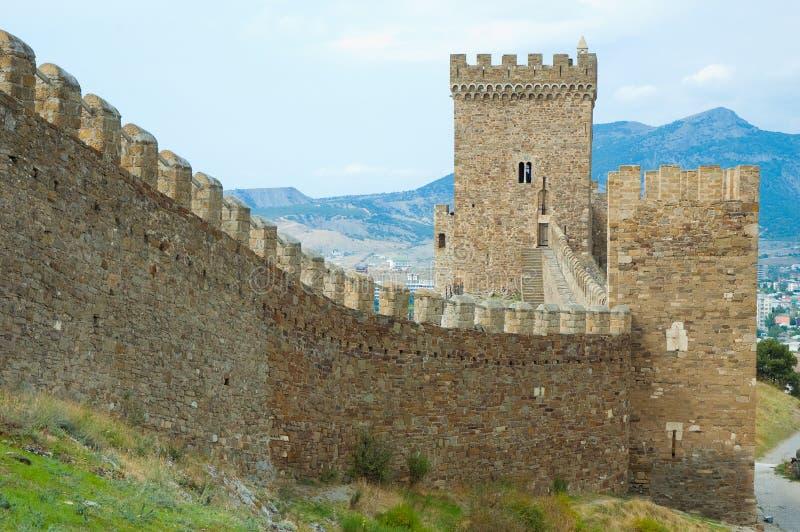 Castello Genoese di Sudak immagini stock libere da diritti