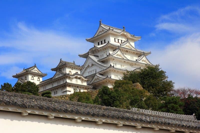 Castello giapponese antico di Himeji fotografia stock