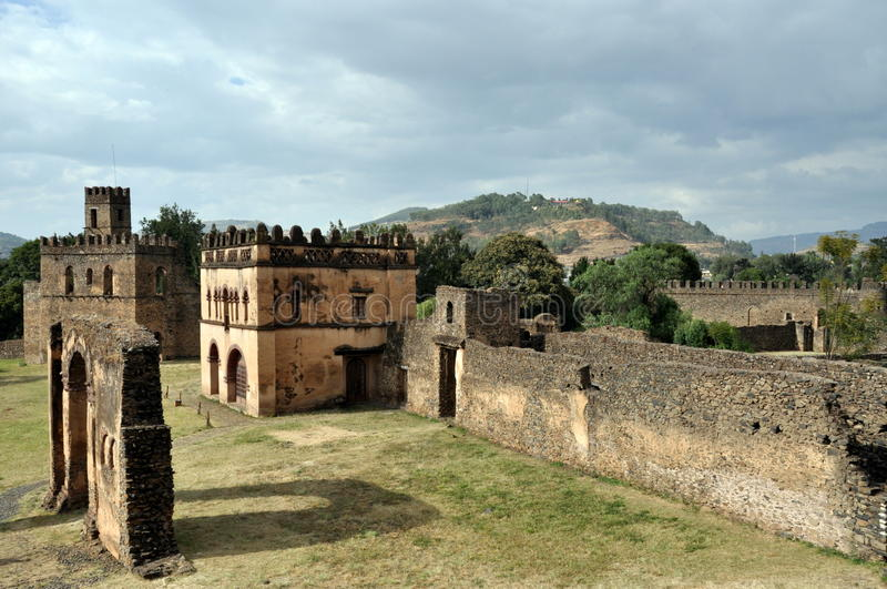 Castello in Gondar, Etiopia immagine stock libera da diritti