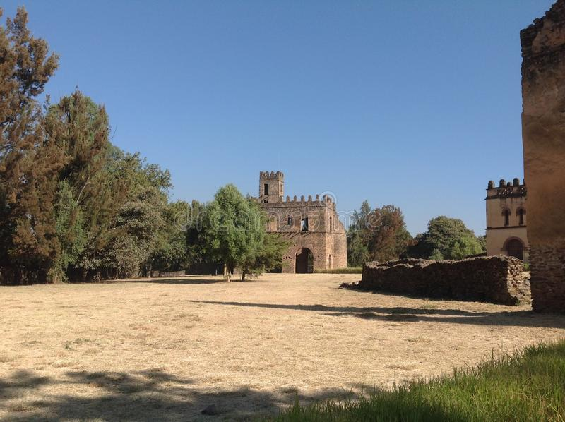 Castello Gondar Etiopia di Fasil fotografia stock