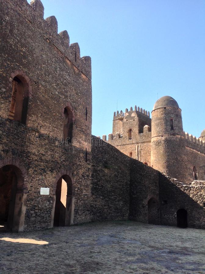 Castello Gondar Etiopia di Fasil immagini stock