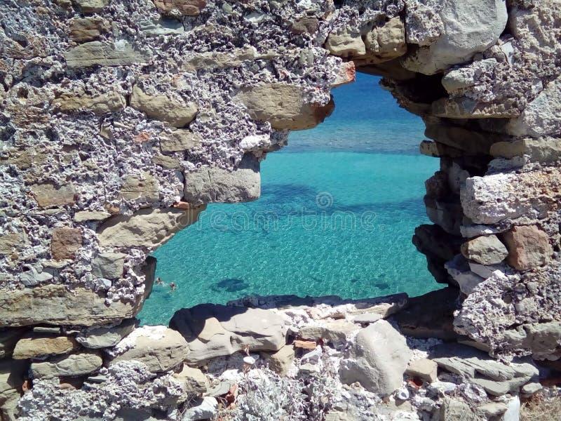 Castello in Grecia immagini stock libere da diritti