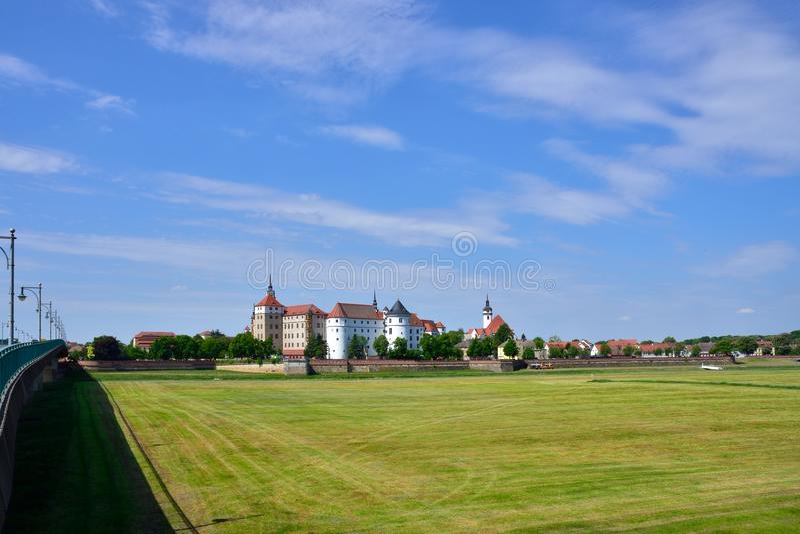 Castello Hartenfels in Torgau fotografia stock