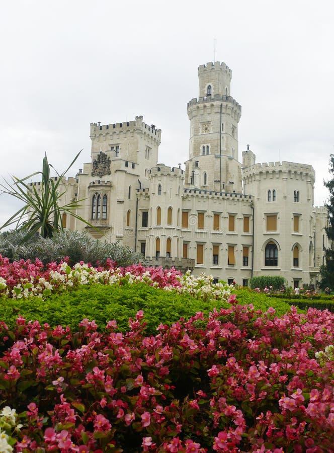 Castello Hluboka fotografia stock libera da diritti