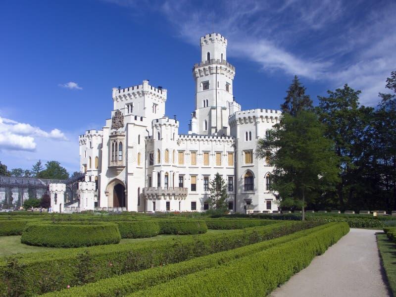 Castello Hluboka nad Vltavou fotografie stock libere da diritti