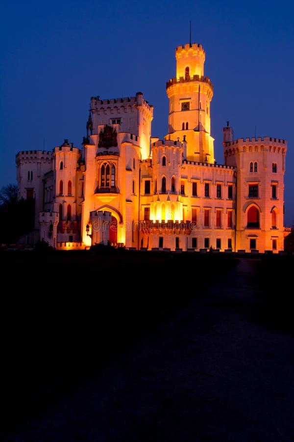 Castello Hluboka nad Vltavou fotografia stock libera da diritti