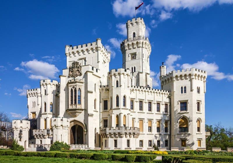 Castello Hluboka nad Vltavou, Repubblica ceca immagine stock