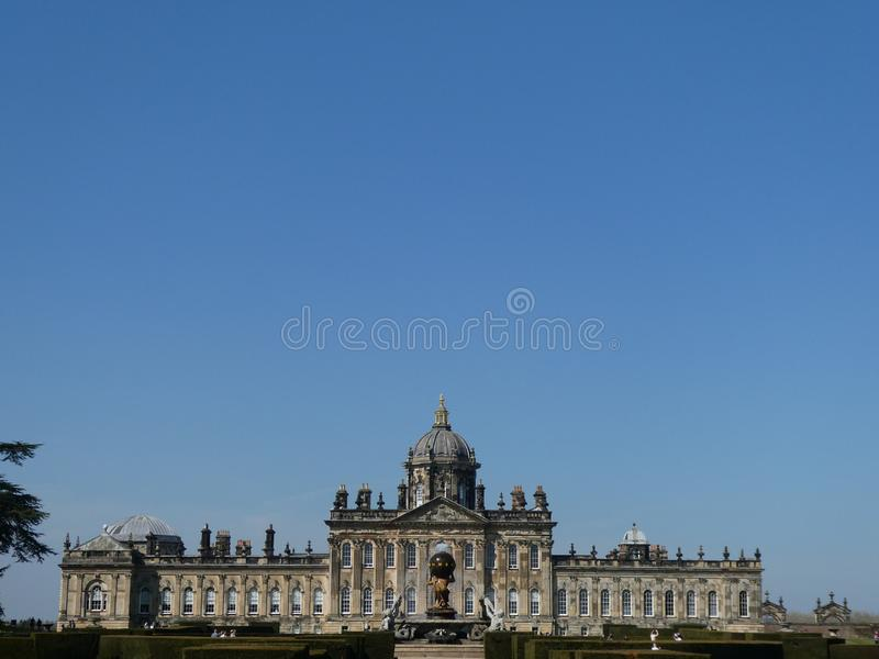 Castello Howard al sole immagini stock libere da diritti