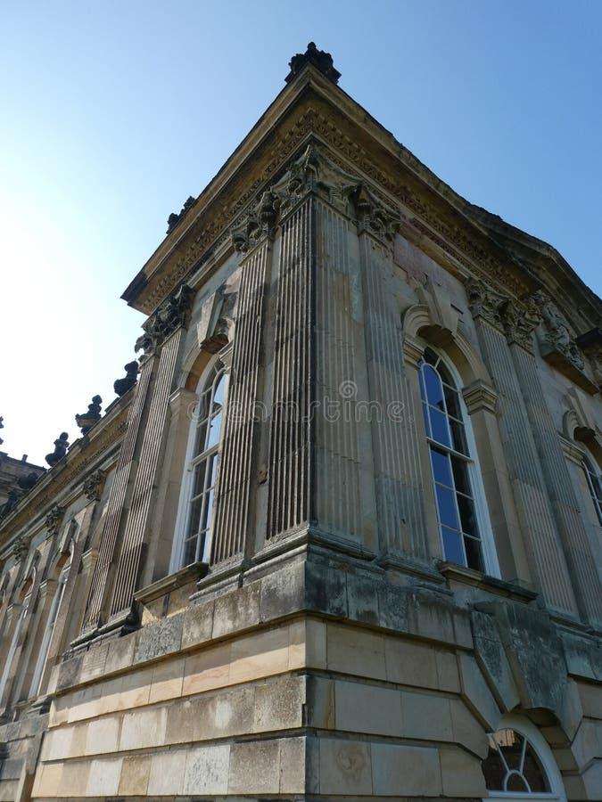 Castello Howard al sole fotografia stock libera da diritti