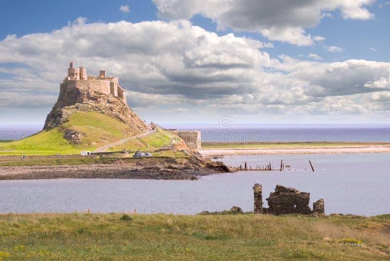 Castello III di Lindisfarne immagine stock libera da diritti