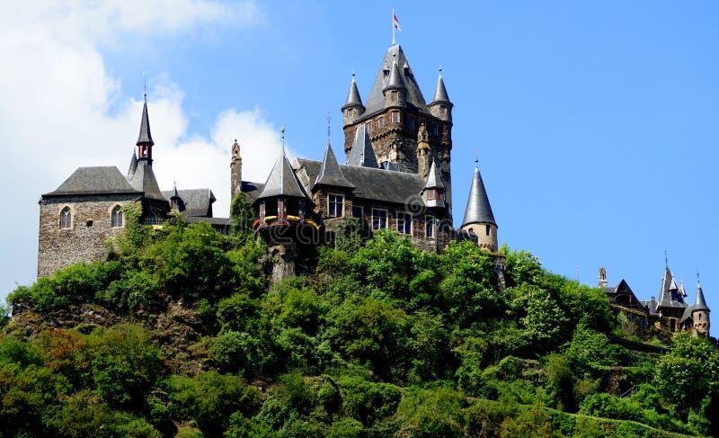 Castello imperiale della Germania a Cochem fotografia stock