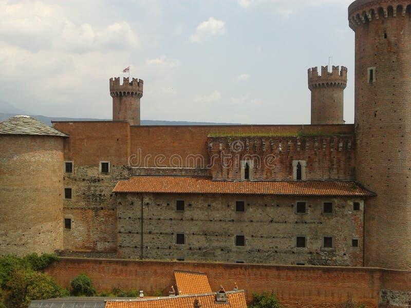 Castello Ivrea stock afbeelding