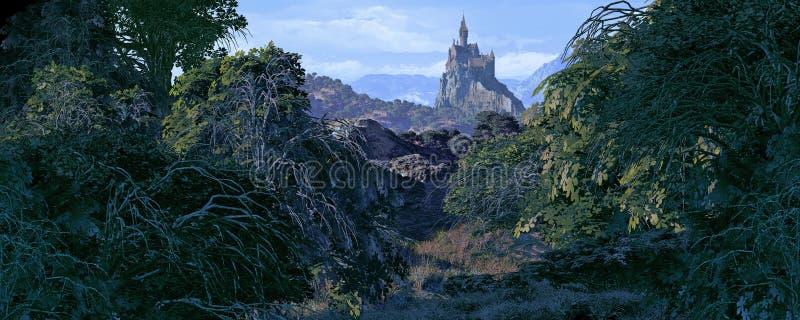 Castello lontano illustrazione di stock