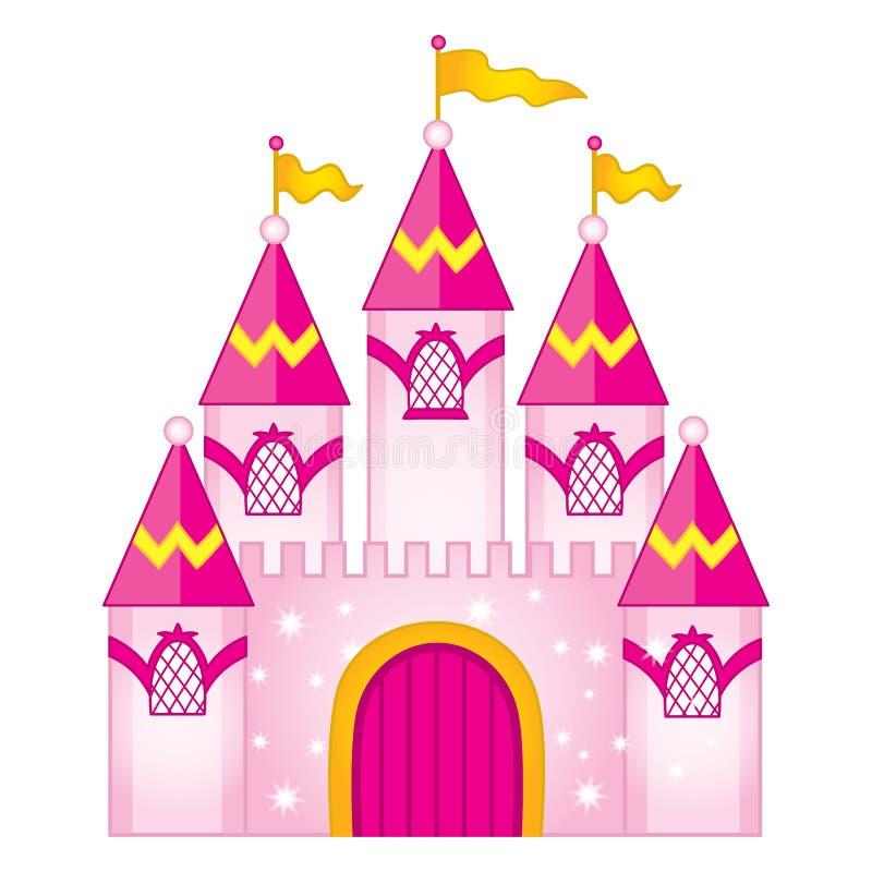 Castello magico di favola di vettore Fortifichi l'illustrazione di vettore royalty illustrazione gratis