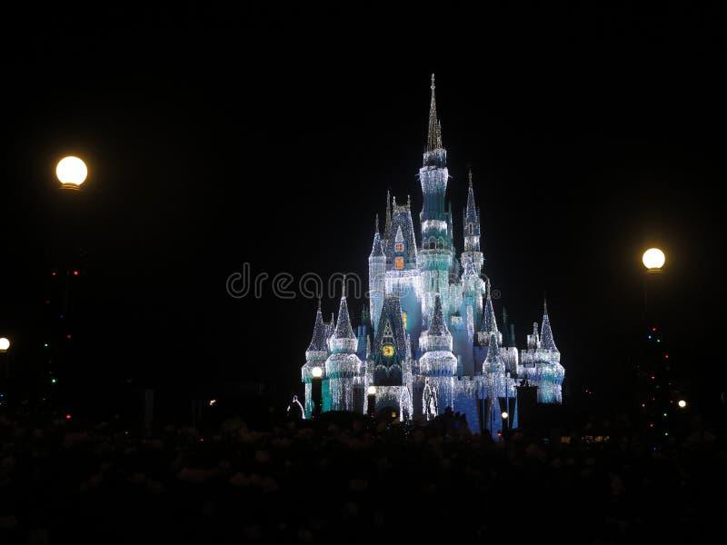 Castello magico di regno al Natale fotografie stock libere da diritti