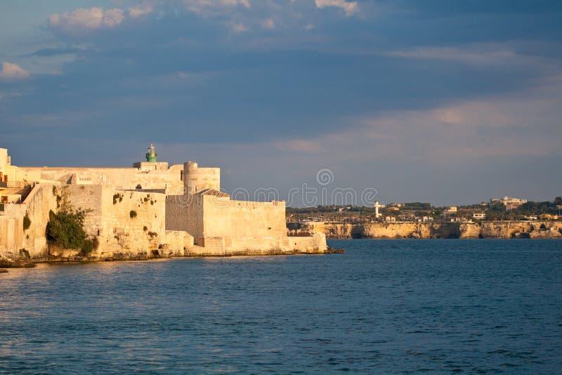 Castello Maniace stock foto's