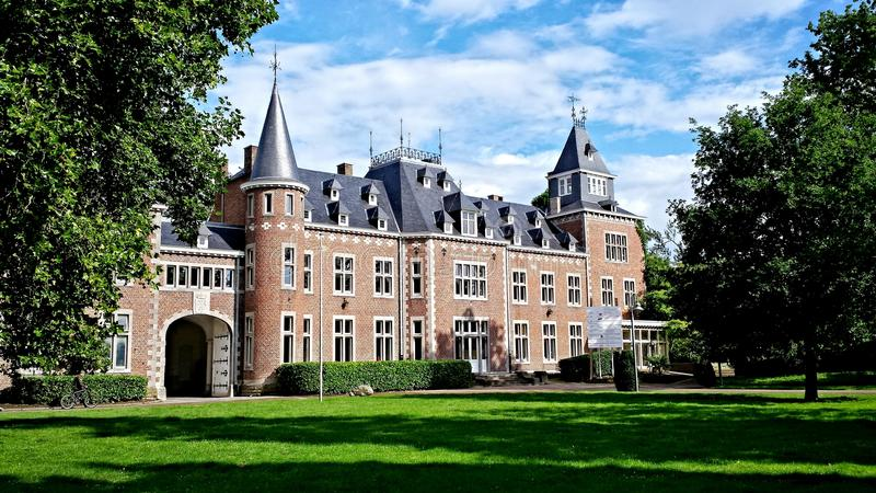 Castello medievale Belgio fotografia stock