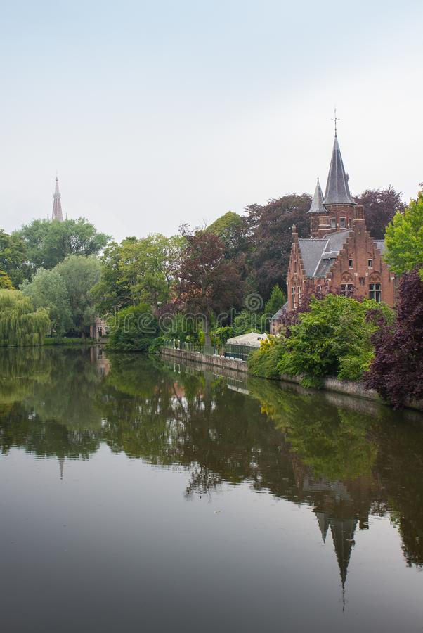 Castello medievale a Bruges fotografia stock