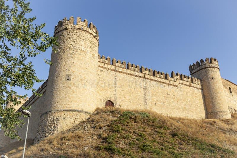 Castello medievale della città di Maqueda fotografia stock libera da diritti