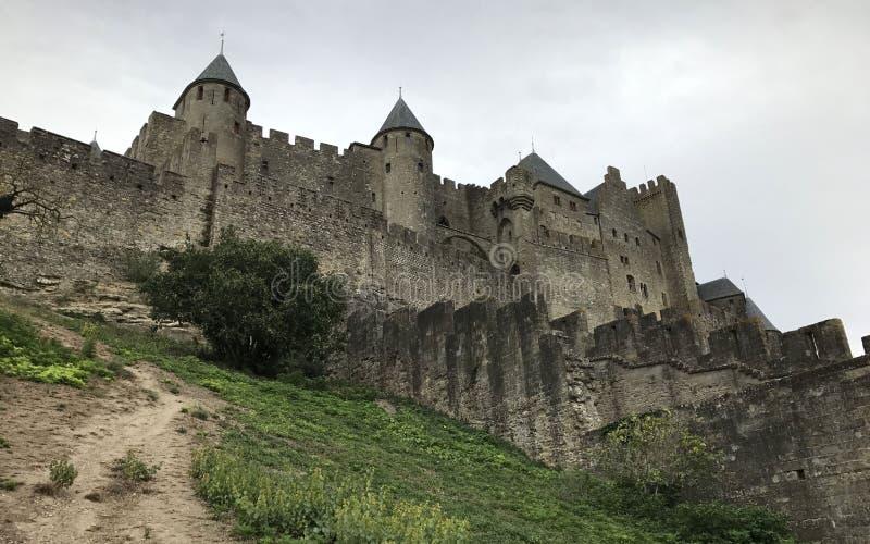 Castello medievale di Carcassonne, Francia fotografia stock libera da diritti