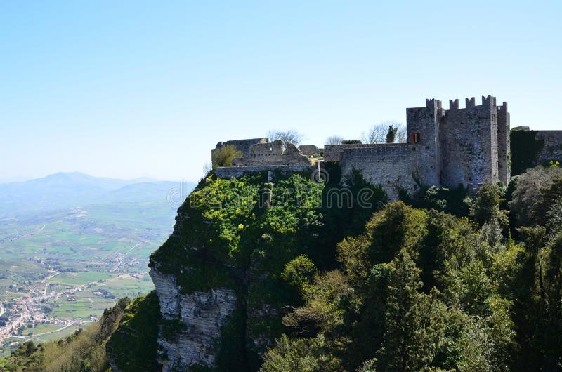 Castello medievale in Erice, Italia fotografia stock