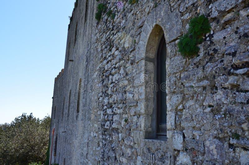 Castello medievale in Erice, Italia fotografie stock libere da diritti