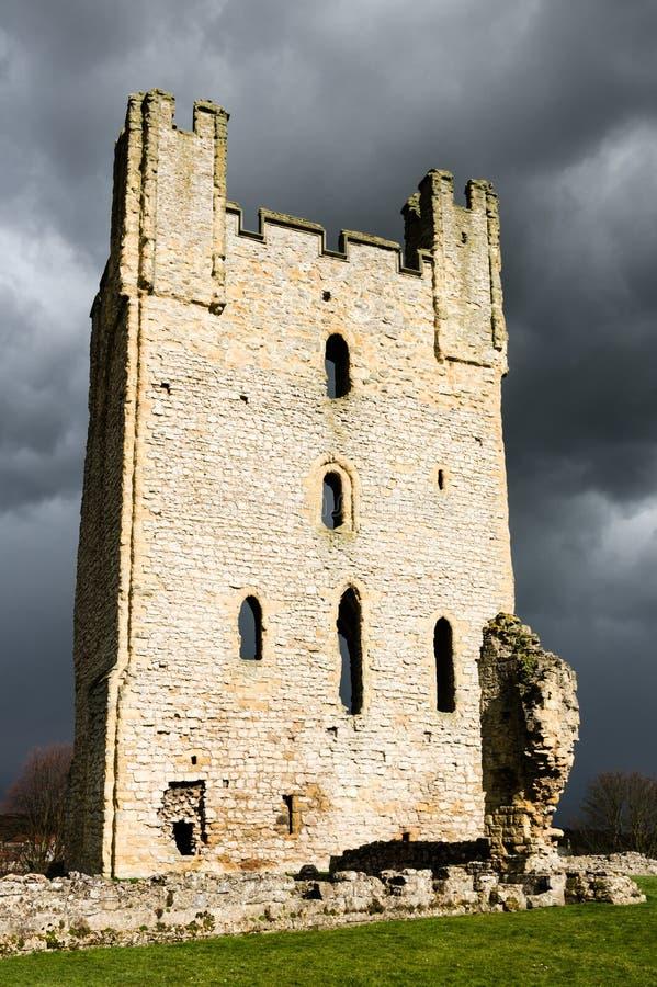 Castello medievale - Inghilterra del Nord - rovina del castello - Regno Unito fotografia stock libera da diritti
