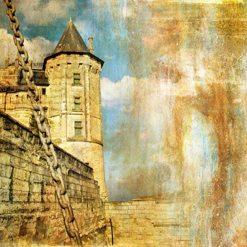 Castello medioevale illustrazione di stock