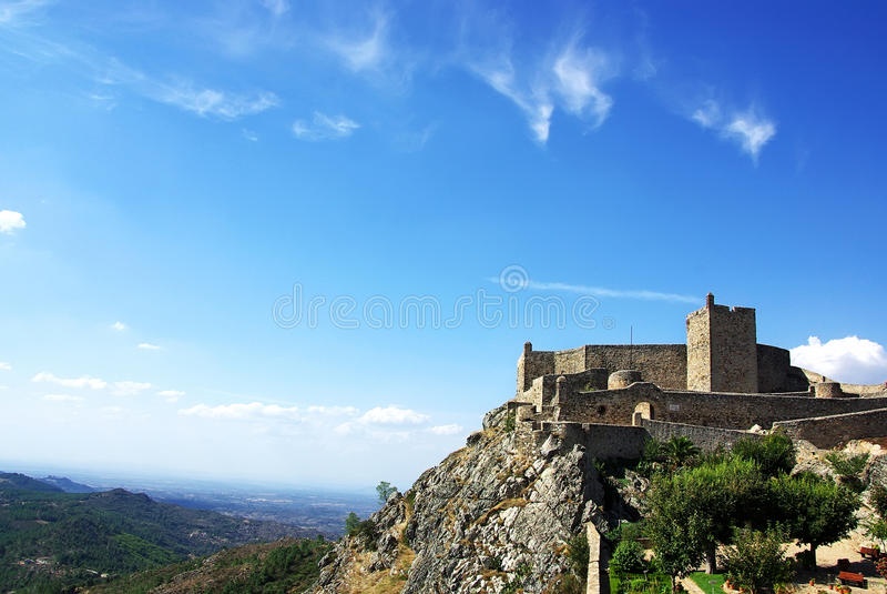 Castello medioevale di Marvao, Portogallo fotografie stock