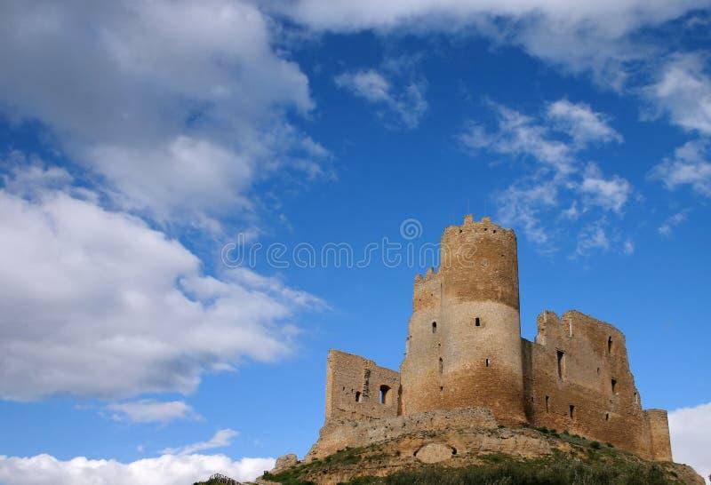 Castello medioevale di Mazzarino in Sicilia fotografia stock libera da diritti