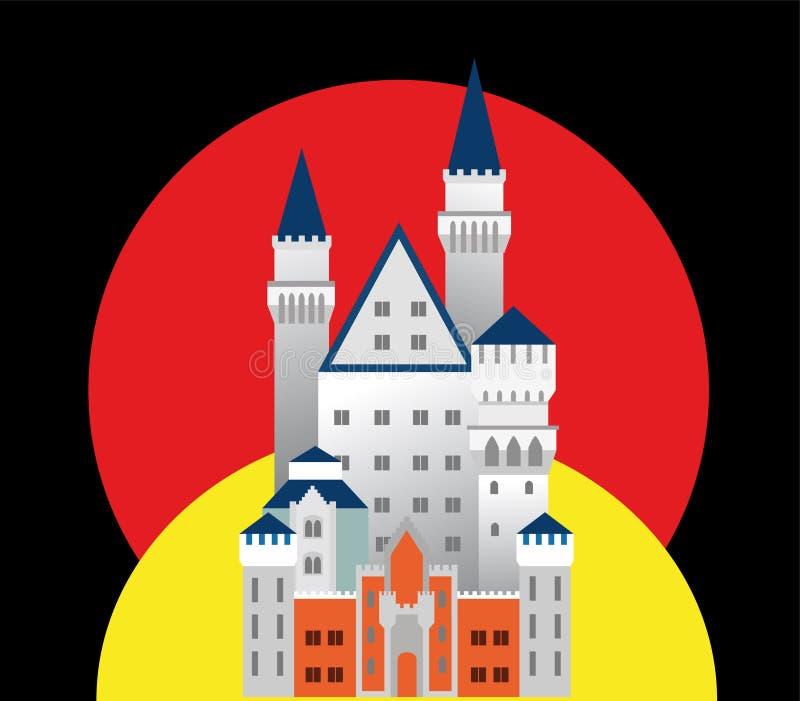 Castello medioevale in Germania fotografie stock