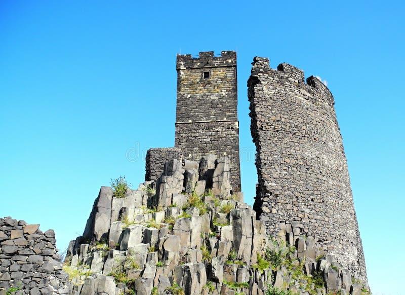Castello medioevale Hazmburk 2 fotografie stock libere da diritti