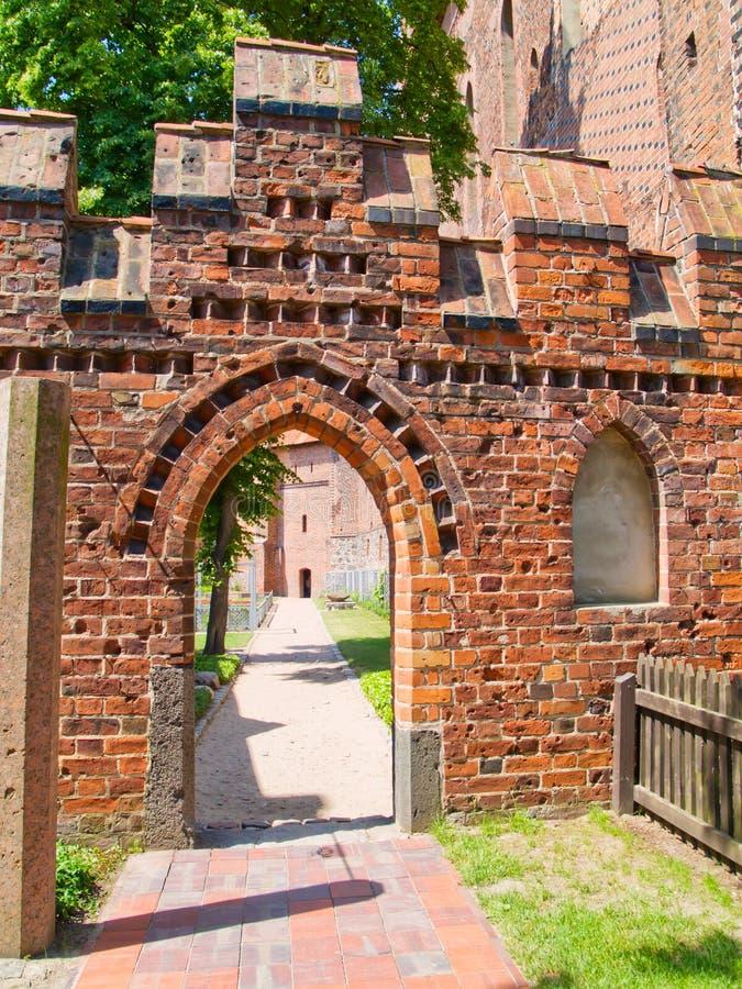 Castello medioevale in Malbork fotografie stock