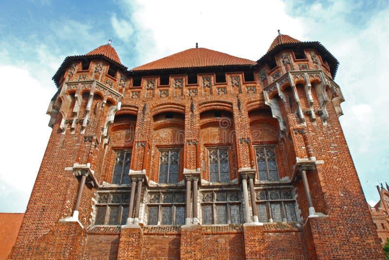 Castello medioevale in Malbork fotografie stock libere da diritti