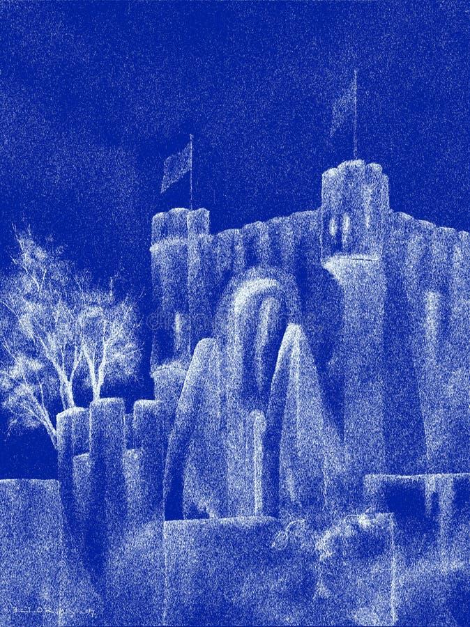Castello medioevale spettrale royalty illustrazione gratis