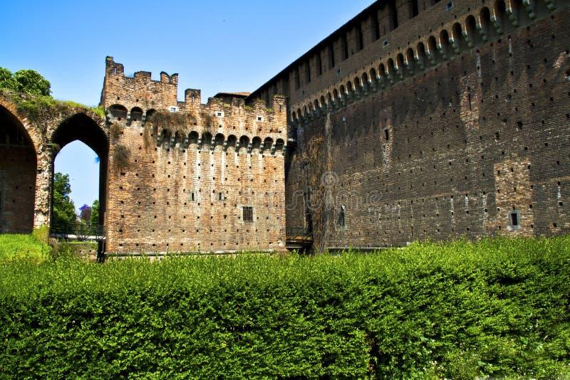 Castello a Milano fotografie stock libere da diritti