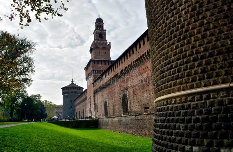 Castello a Milano, Italia fotografie stock