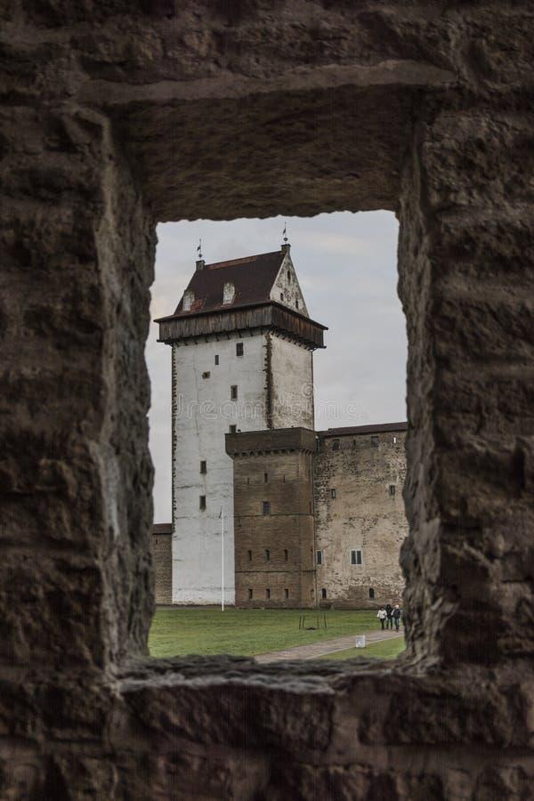 Castello in Narva, Estonia immagine stock libera da diritti