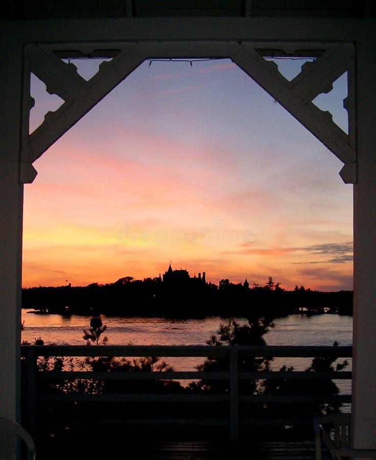 Castello nel Archway fotografia stock libera da diritti