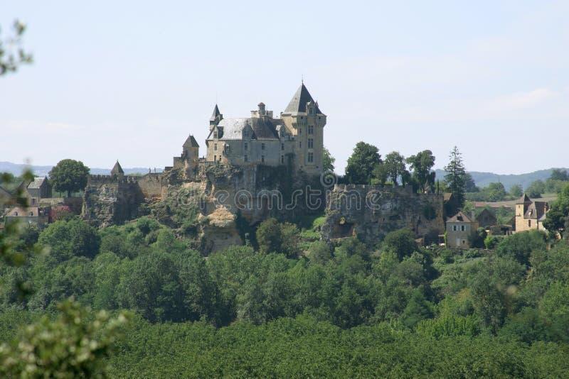 Castello nel Dordogne in Francia fotografie stock libere da diritti