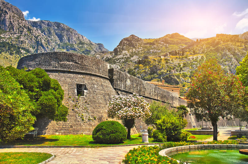 Castello nel Montenegro fotografia stock libera da diritti