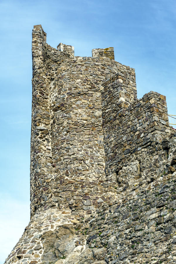 Castello nel parco naturale di Montseny, Catalogna Spagna di Montsoriu immagini stock