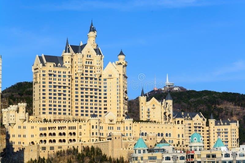 Castello nella città di Dalian immagine stock libera da diritti